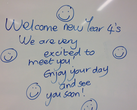 The old year 4s welcome the new